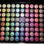 Minha paleta de 88 sombras shimmer