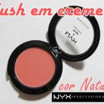Blush em creme NYX cor natural