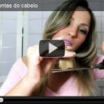 Vídeo: Cortando as pontas do cabelo