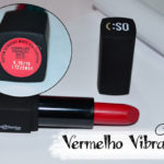Batom mate vermelho vibração Contém 1g