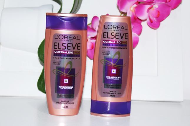 Resenha Shampoo e condicionador Elseve Quera Liso