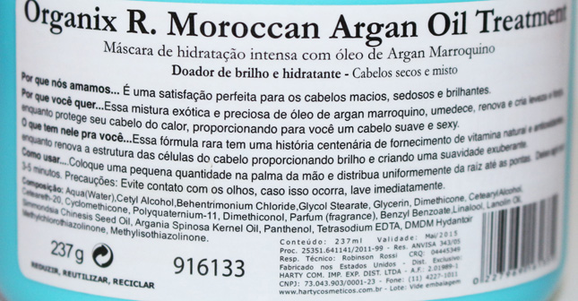 Resenha: Moroccan Argan Oil Organix Treatment