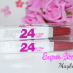 Batons Super Stay 24 Maybelline: Berry Persistent e Perpetual Plum