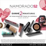 Miniaturas de maquiagens de marcas top gratis na Sephora