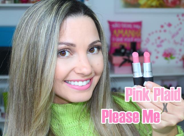 MAC Pink Plaid lipstick (VS Please Me) - Ceetje  Mac Pink Plaid Vs Please Me