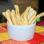 Palitinhos de queijo e polvilho doce sem gluten