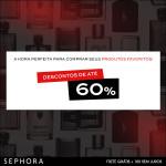 Até 60% de desconto em perfumes e maquiagem na Sephora*