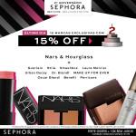 Nars, Hourglass e MAIS 10 marcas com 15% OFF na Sephora*