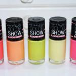 Linha Bleached Neons color show Maybelline no esmalte da semana