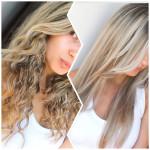 Antes e depois do meu cabelo: cacheado x liso