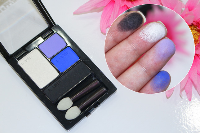 Eletric Blue swatches e resenha Sombras Maybelline: duos e quartetos