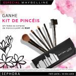 Kit de pinceis Maybelline gratis na Sephora*