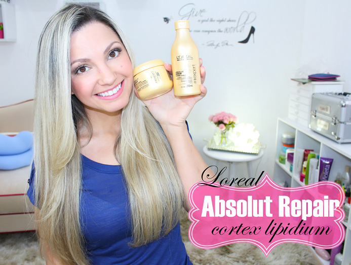Resenha: Absolut Repair cortex Lipidium / shampoo e mascara