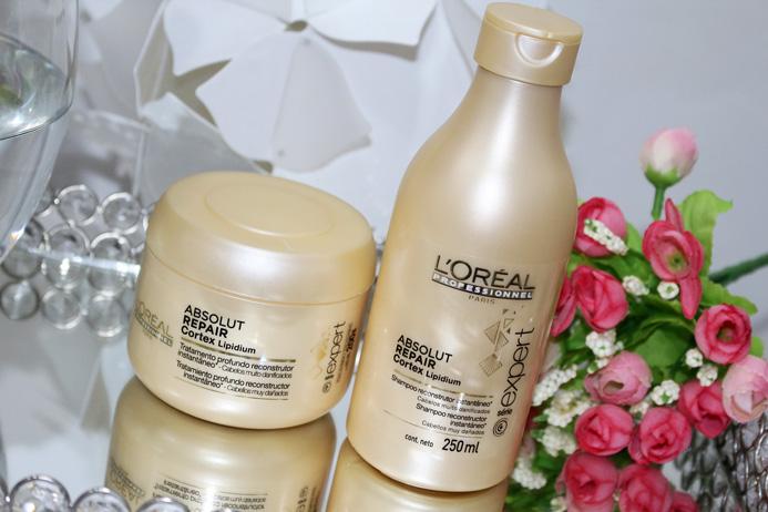 Resenha: Absolut Repair cortex Lipidium / shampoo e mascara