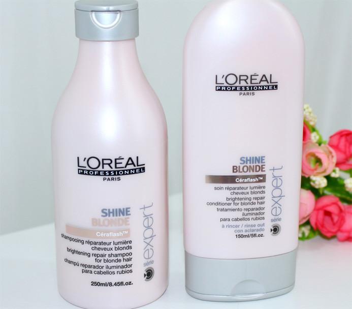 Resenha: linha Shine Blonde Loreal shampoo e condicionador