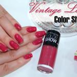 Vintage Lover Color Show no esmalte da semana