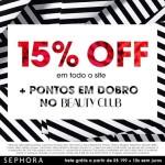 15% off na Sephora*