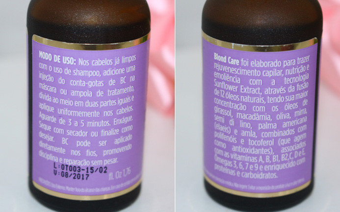 Resenha: BC Blond care oil therapy