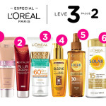 Especial Loreal Paris: leve 3 pague 2*