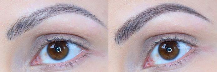 duo para sobrancelhas Vult antes e depois