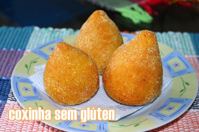 Receita: coxinha sem gluten (de frango)