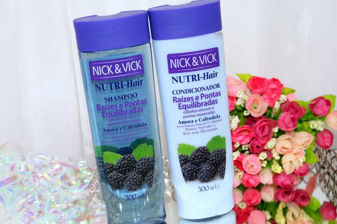 Raízes e pontas equilibradas Nutri-hair Nick&Vick