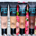 Base Fit me matte + fresh 110 real claro (+ amostras de outros tons)