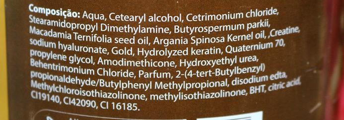 Desmaia fios Yenzah OM ouro ingredientes