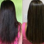 Luzes em cabelos tingidos (escuro): como eu fiz!