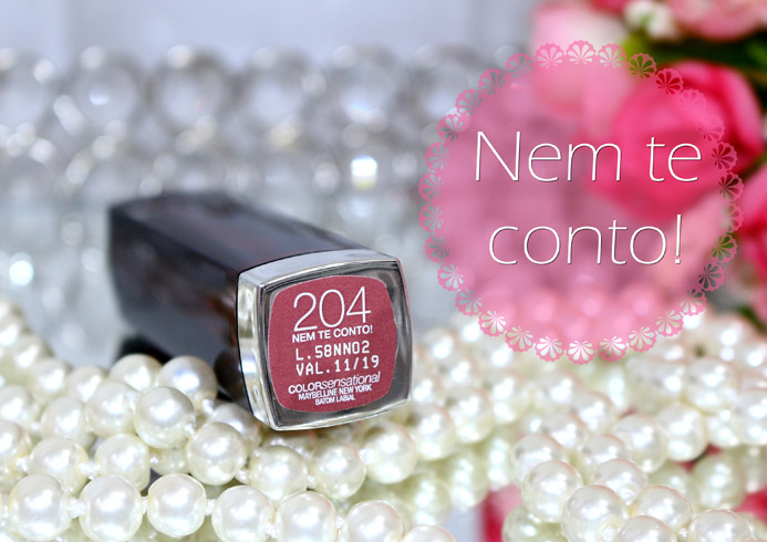 Batom 204 Nem te conto! Color Sensational Maybelline