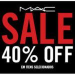 MAC na promoção: 40% off em itens selecionados