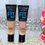 Novas cores base FIT Me Maybelline: 80 e 90