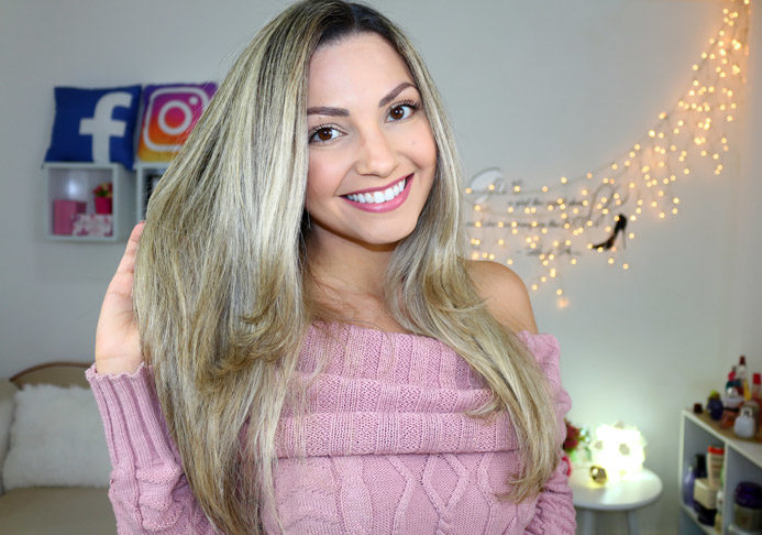 Desmaia cabelo Garota Estúpida/ post e vídeo com aplicação