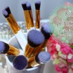 Resenha: Kit de pinceis sintéticos da China/ cabo branco