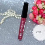Batom líquido matte Top Beauty cor 13 + hologloss