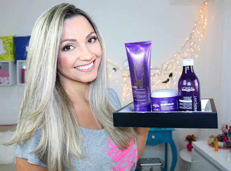 Leave in + shampoo + máscara Absolut Control Loreal Profissionnel