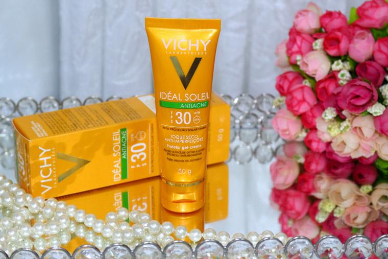 Resenha: Ideal Solei antiacne Vichy fps 30 toque seco