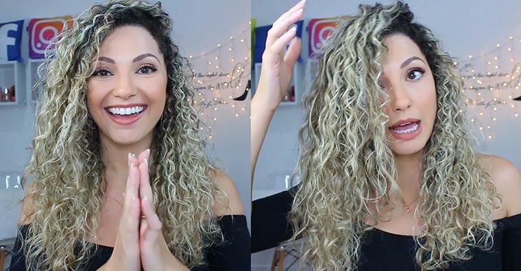 Finalizando meu cabelo cacheado: vídeo