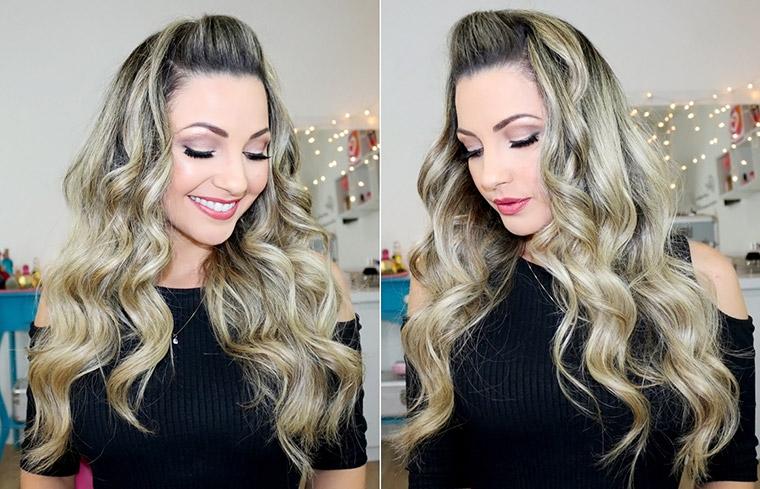 Penteado fácil: topetinho + ondulado