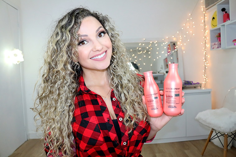 Resenha Inforcer Loreal: shampoo, condicionador e máscara de tratamento