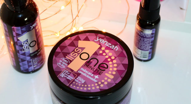 Resenha: Yenzah One Minute Liss | máscara, leave in e óleo finalizador